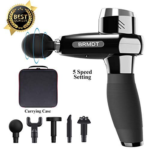 New Variable Speed Massager Handheld Massage Gun by BRMDT, Deep Tissue Muscle Massager for Neck/Back/Leg Pain Relief, Portable Professional Personal Hand Held Massager Device with 5 Variable Speeds 2019