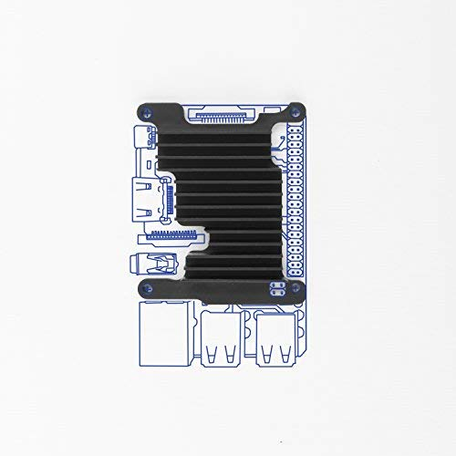 - Kintaro Custom Aluminum Raspberry Pi Cooling Heatsink - Single Board Computer Kit Includes Heat Sink, Thermal Compound Paste and Screws - (Raspberry Pi 3 Model B+)