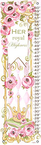 Oopsy Daisy Fine Art for Kids Growth Chart Her Royal Highness by Shelly Kennedy, 12x42""