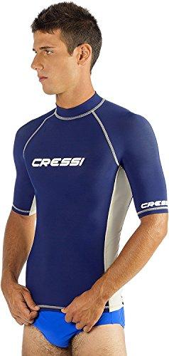 (Cressi Man Short Sleeve Rash Guard, blue, L)