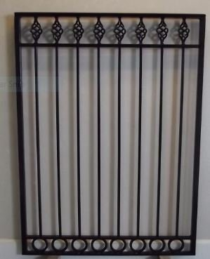 WROUGHT IRON STEEL ORNAMENTAL BASKET DESIGN GARDEN (Ornamental Wrought Iron Gates)