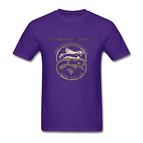 Modern Men Indiana University Club 100% Cotton Short Sleeve T-Shirt Purple L Costume (Space Jam Costumes)