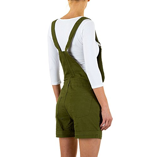 Jeans Latz Shorts Für Damen , Grün In Gr. L bei Ital-Design