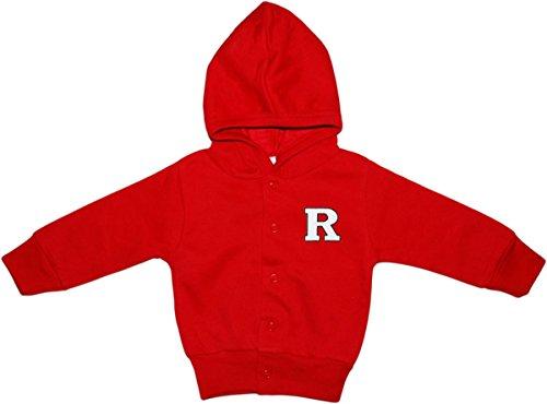 Creative Knitwear Rutgers University Newborn Infant Baby Snap Hooded Jacket