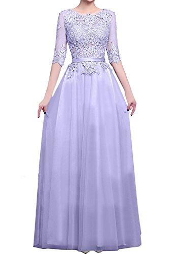 Spitze A Lilac Braut Langarm Rock linie Lang Abendkleider Abschlussballkleider La mia Damen Promkleider UFIWnqq1