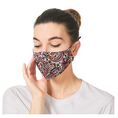 Shohotop 5PC Reusable_Face_Masks+10 Filters Reusable and Breathable, Face Bandanas Full Protection, Indoors and Outdoors, Anti-Haze Dust, for Adults