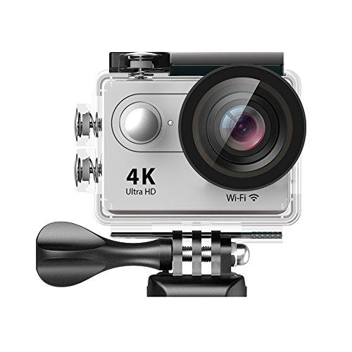 Amazon #LightningDeal 95% claimed: EKEN H9 Wifi 4K Waterproof Action Camera with 2 Batteries + Selfie Stick + Charging Dock (Silver)