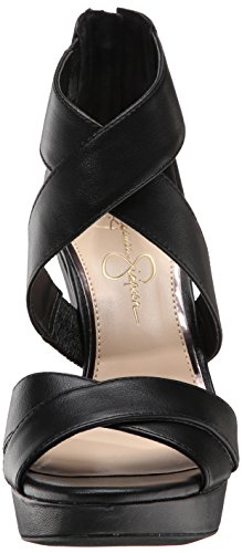 Fancy Jessica Simpson Jessica Simpson Jadyn de las mujeres sandalias de cuña Negro