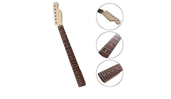 Dr.Lefran Guitarra eléctrica del Cuello, 21 trastes de la Guitarra eléctrica de Arce Cuello, diapasón de Palisandro, 26.4in, Guitarra Partes de Accesorio: Amazon.es: Deportes y aire libre