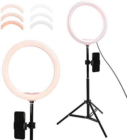 YAYONG 12.8 Photo Studio LED Camera Ring Light Dimmable Phone Video Light Lamp with 1.6M Tripod Fill Light for Live Makeup Lighting