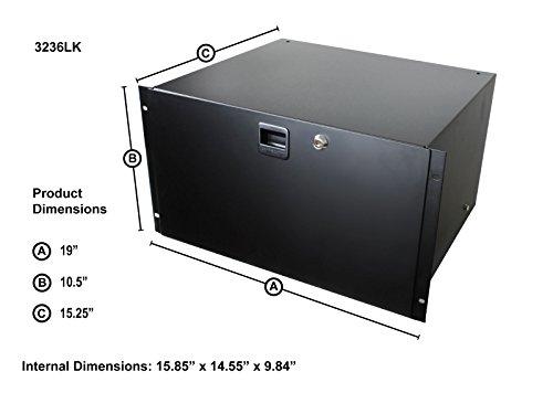 Penn Elcom 3236LK 6U Lockable Rack Drawer Audio Rackmount by Penn Elcom