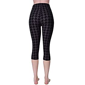 - 41f7Roqp5oL - VIV Collection Print Brushed Ultra Soft Cropped Capri Leggings Regular and Plus (Sizes XS – 2XL) Listing 3
