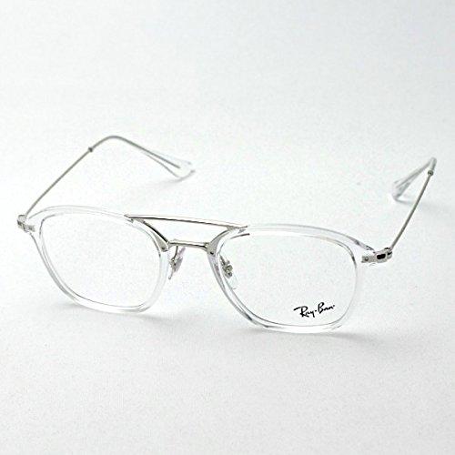 【レイバン正規商品販売店】 RayBan レイバン メガネ 伊達メガネ 眼鏡 ダテメガネ ダブルブリッジ RX7098 48 2001 B076YJPG3H