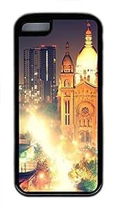 iPhone 5c case, Cute Santiago Iglesia Del Sacramento Noche iPhone 5c Cover, iPhone 5c Cases, Soft Black iPhone 5c Covers