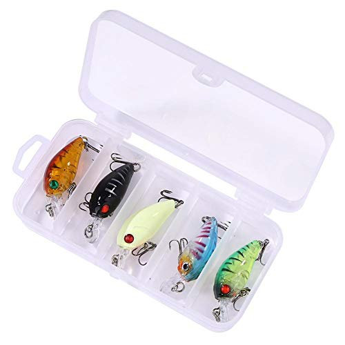 Cleansed 5pcs/Set 4g Horse Mouth Mini Pocket Bionic Fishing Lure Baits Full Swimming