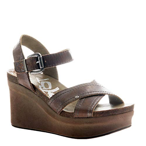 OTBT Women's Bee Cave Wedge Sandals - Pewter - 7 M US -