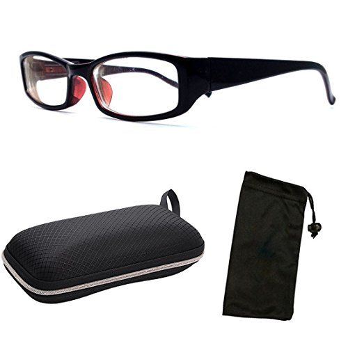(#NS-201ST) Myopia Nearsighted Men Women Short-Sighted Distance Shape Black Frame Driving Glasses Eyeglasses by CPS