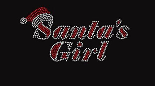 Christmas Santa's Girl Rhinestone Iron on T Shirt Design by Jeannies Rhinestone World