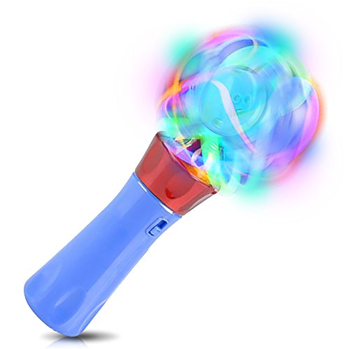 ArtCreativity Light Up Orbiter Spinning Wand, 7 Inch LED Spin Toy with Batteries Included, Great Gift Idea for Boys, Girls, Toddlers, Fun Birthday Party Favor, Carnival Prize - Colors May -