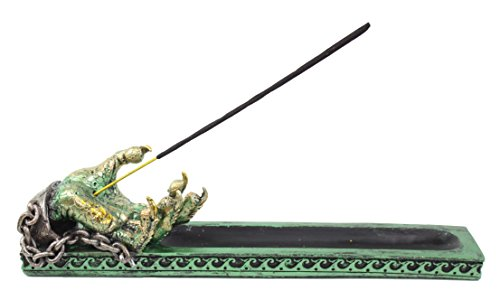 Mythical Green Western Dragon Claw Incense Burner Holder Dark Legend Magical Halloween Party Home Decor Gift