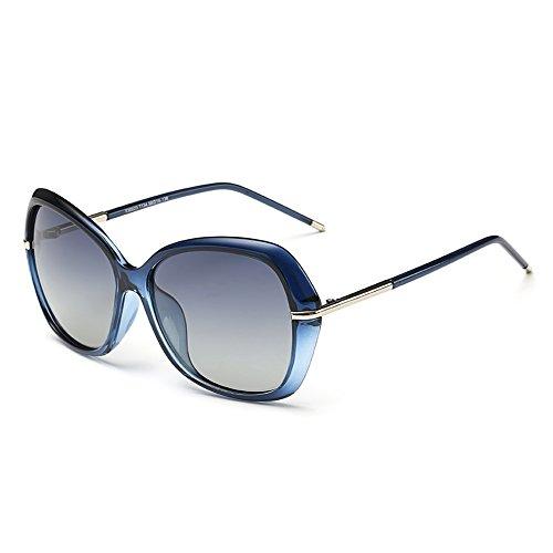 DONNA Women's Classic Oversized Polarized Sunglasses Super Big Circle Shades Ultralight D72(Blue)