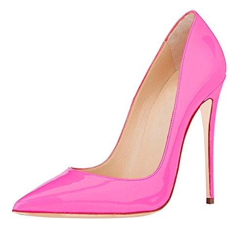 Haut Pink Escarpins Sexy Femmes Pointu Élégant Soir Chaussures Talon Bout Edefs Fête qwtHP