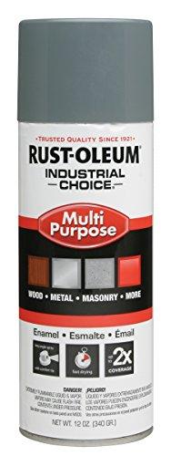 (Rust-Oleum 214646 1600 ANSI 49 Medium Light Gray System General Purpose Enamel Aerosol, 20 oz Container Size, Aerosol Can (Pack of 6) )
