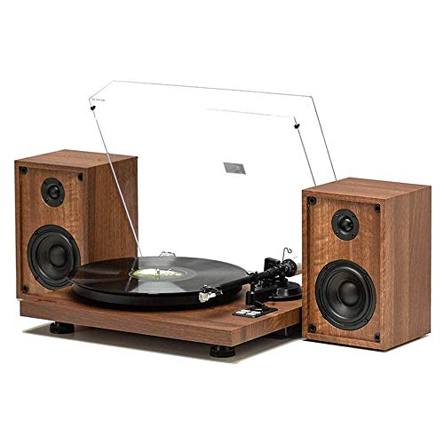 TBTUA Vintage Classic Phonograph, with Stereo Speakers Wireless 2 Speed Turntable Wooden Record Player,Supports Vinyl, RCA Audio Line Out
