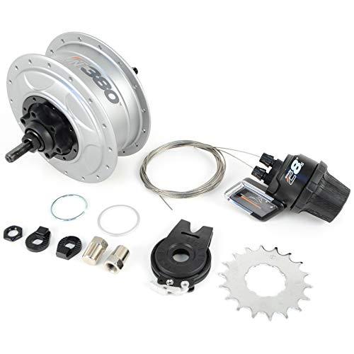 NuVinci Fallbrook Technologies N380 CVT Internal Gear Bicycle Rear Hub Silver 32h Disc Brake // New C8 ...