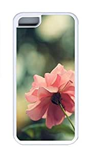 iPhone 5C Case, Personalized Custom White Case for iphone 5C - Pink Rose1 Cover