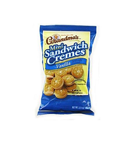 Grandmas Mini Vanilla Crème Cookies Peg Bag - 3.71 Oz. Bag - 24 Ct.