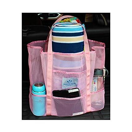 09d7efde7ce3 Amazon.com   Mesh Lightweight Beach Tote Bag with Handles Large ...