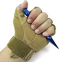 Mallalah Kubotan Llavero Acero Inoxidable con empuñadura ergonómica y Llavero para la autodefensa con Llavero Utilizado como Martillo de Emergencia ...