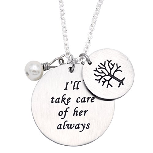 O.RIYA Stainless Steel Thank You for Raising The Man, I Will Take Care of Her Always Necklace (Take-Care-her-Necklace)