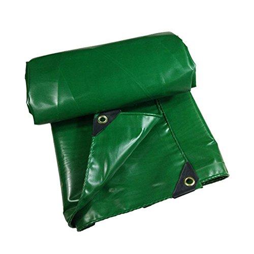 腐敗敏感なクリスマスCHAOXIANG オーニング 厚い 折りたたみ可能 両面 防水 日焼け止め 耐高温性 耐寒性 耐摩耗性 防塵の 耐食性 軽量 PVC 緑、 550g/m 2、 厚さ 0.5mm、 15サイズ (色 : 緑, サイズ さいず : 5×8m)