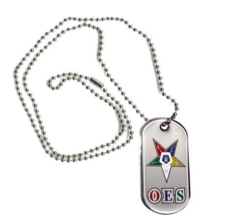 - Greekgear OES Order of Eastern Star Reversible Dog Tags