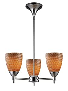 Elk 10154/3PC-C Celina 3-Light Chandelier In Polished Chrome and Coco Glass