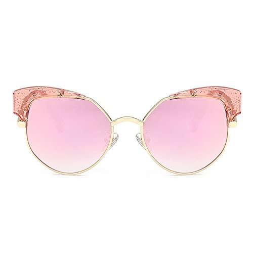 Fantia Anti-ultraviolet Children glasses Color Reflective Yurt Mirror Baby Sunglasses (Barbie powder)