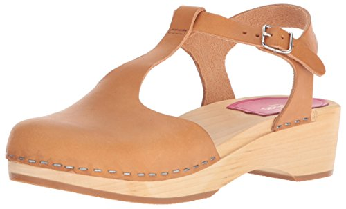 Brown Hasbeens Swedish Women's Debutant nature Strap T Clogs BFwpwYZq