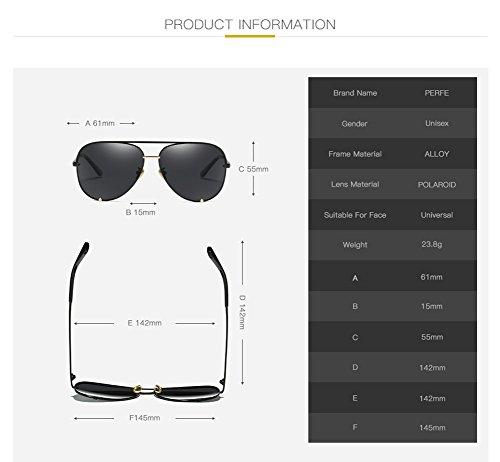 para Mujer Protección De Hombre 400 C3 Sol Gafas Aviator C1 Polarizadas UV para xZ4SIq