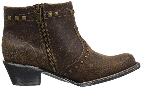 One Size Ferrini Dark Ankle Women's Boot Bootie Chocolate Studded p1pcqPfXwY
