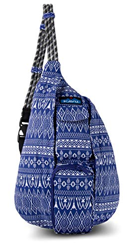 KAVU Mini Rope Bag Crossbody Shoulder Cotton Backpack  (Purple Pattern, One Size)