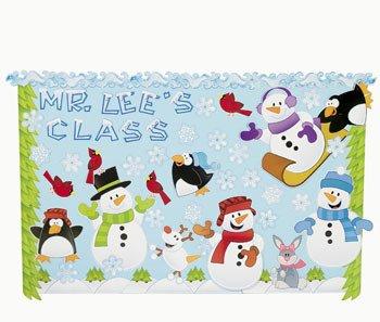 143 Pc Winter Wonderland Bulletin Board Set - Teacher Resources & Bulletin Board -