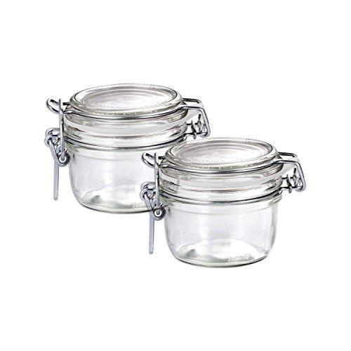 Bormioli Rocco Fido Round Clear Jars