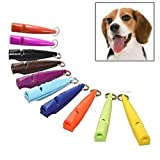 VAXT Random Gloss Delivery, Aim 10 PCS Dog Horse Whistle Stop Barking Mute Pet Training Whistle with Key Chain