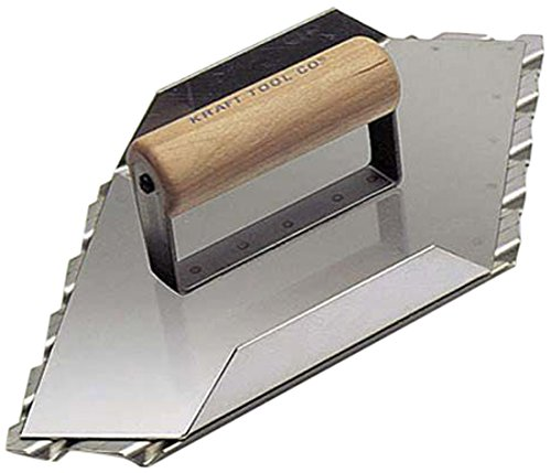 Kraft Tool CF086 Safety Ramp Hand Left Groover 1-Inch Spacing, 13-1/2 x 5-1/2-Inch