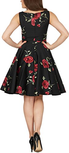 Rouges Vintage Infinity Robe Blackbutterfly 50 Grosses 'audrey' Années Roses Oxz8qUB7