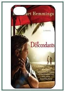 The Descendants George Clooney Shailene Woodley iPhone 4 iPhone4 Diseñador Negro duro Funda Protector de parachoques Carcasa Case Cover