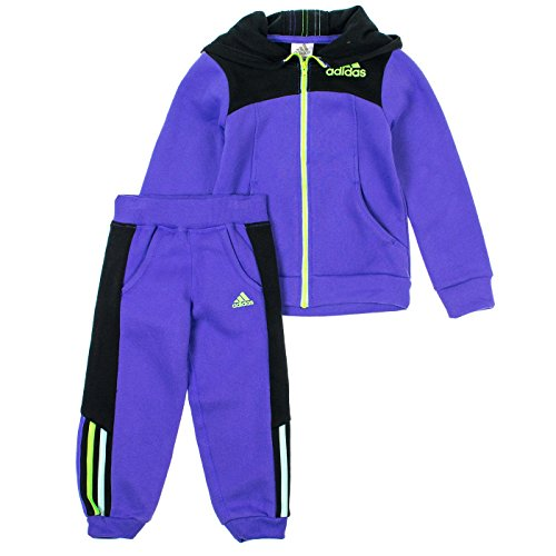 Adidas Little Girls 2-Piece Zip Up Hoodie & Sweatpants Set 2