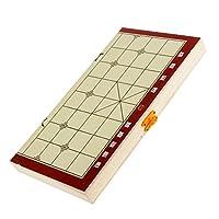 【ノーブランド品】 折り畳み式 携帯用 中国のチェス盤 木製 ゲーム セット プレゼントの商品画像